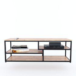 Kệ Tivi GEHA đơn giản 140cm khung sắt gỗ cao su KTV68073