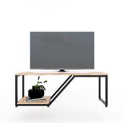 Kệ tivi HEBE đơn giản 120cm gỗ cao su khung sắt KTV68080