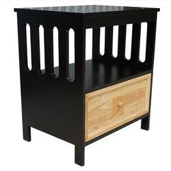 Tủ đầu giường 1 ngăn kéo màu đen 65x47x72cm HDTDG68020