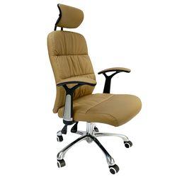 Ghế văn phòng ngả lưng nệm simili màu nâu MF9393N