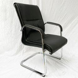 Ghế phòng họp chân quỳ nệm simili màu đen HDMFC03