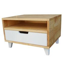 Tủ đầu giường 1 ngăn kéo gỗ cao su 50x40x33cm HDTDG68018