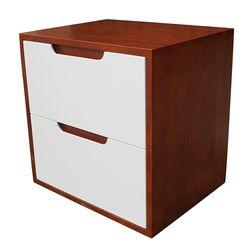 Tủ đầu giường 2 ngăn kéo màu cánh gián 50x40x50cm HDTDG68022