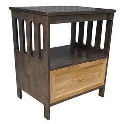 Tủ đầu giường 1 ngăn kéo màu nâu lau 65x47x72cm HDTDG68019