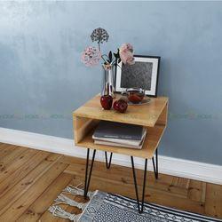 Bàn tab nhỏ PINLEG đặt hông ghế Sofa phòng khách - 50x50x55 (cm) HDTDG68013