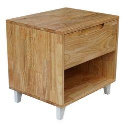 Tủ đầu giường 1 ngăn kéo gỗ cao su (50x40x48cm) HDTDG68015