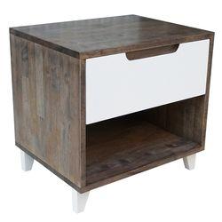 Tủ đầu giường 1 ngăn kéo gỗ màu nâu lau (50x40x48cm) HDTDG68016