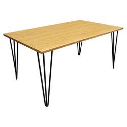 Bàn trà TEABamboo 100x60x45cm gỗ tre chân Hairpin TB009