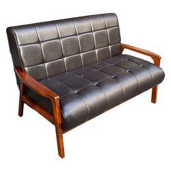 Ghế sofa khung gỗ nệm Simili cổ điển BNS8039-2P