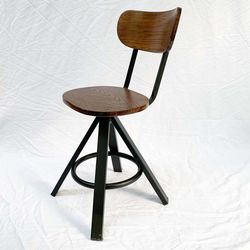 Ghế cafe gỗ chân sắt có lưng tựa GCFSK46