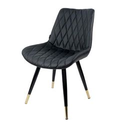 Ghế Aster chân sắt, mặt ghế bọc nệm da PU GCF041