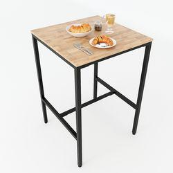 Bàn bar vuông 70cm gỗ cao su chân sắt sơn tĩnh điện BB002