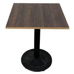 Bàn cafe vuông gỗ Plywood chân sắt đế gang đúc CFD68070