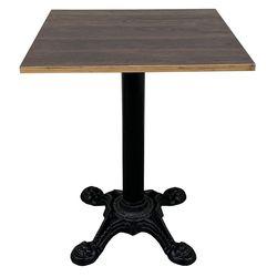 Bàn cafe vuông gỗ Plywood chân gang đúc 4 Chĩa CFD68069 với mặt bàn được làm từ gỗ Plywood cốt gỗ tự nhiên, bề mặt phủ melamin kết hợp với chân sắt đế gang đúc gân guốc hầm hố rất đẹp mắt. Bàn CFD68069 phù hợp với mọi không gian quán cafe, bàn tiếp khách văn phòng hay bàn ban công ... kết hợp với mọi loại ghế Cafe đều rất đẹp.  THÔNG TIN CHI TIẾT SẢN PHẨM  Mã sản phẩm: CFD68069 Hướng dẫn sử dụng: Bàn cafe Chất liệu: Mặt bàn gỗ Plywood cốt gỗ tự nhiên mặt bàn phủ melamin, chân bàn gang sơn màu đen Kích thước(D x R x C): 60x60x75cm Màu sắc: mặt bàn vân sáng hoặc vân tối Bảo hành: 12 Tháng