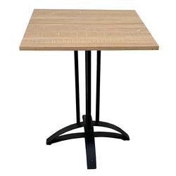 Bàn cafe vuông gỗ Plywood chân sắt chữ thập cong CFD68068