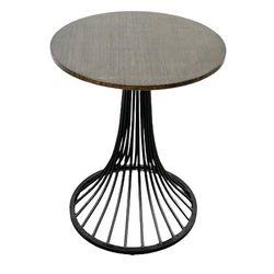 Bàn cafe gỗ TRE ÉP tròn 60cm chân sắt sơn tĩnh điện CFD68051