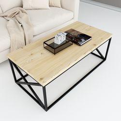 Bàn sofa gỗ thông khung sắt sơn tĩnh điện TT68152