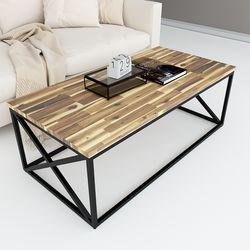 Bàn sofa mặt gỗ tràm khung sắt sơn tĩnh điện TT68151