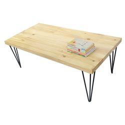Bàn sofa kiểu Nhật gỗ thông chân sắt HairPin TT68138