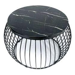 Bàn sofa mặt đá đen khung sắt sơn tĩnh điện TT68136