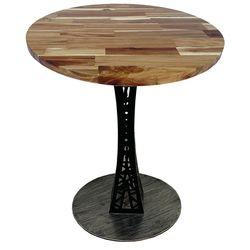 Bàn cafe gỗ tràm dày 25mm chân sắt sơn tĩnh điện CFD68083
