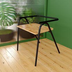 Ghế cafe, ghế ăn Cozy khung sắt mặt gỗ GCF033