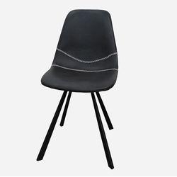 Ghế cafe, ghế ăn nệm da chân sắt sơn tĩnh điện GCF078
