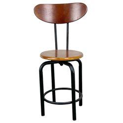 Ghế cafe mâm xoay lưng tựa chân sắt GCF68026