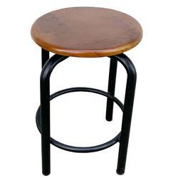 Ghế cafe gỗ mâm xoay chân sắt sơn tĩnh điện GCF68025