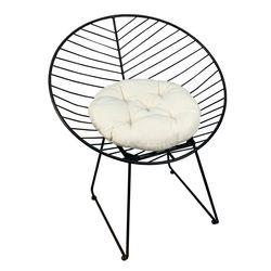 Ghế cafe khung sắt hình nón GCF019