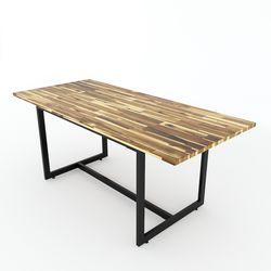 Bàn ăn Erica mặt gỗ tràm khung chân sắt BA68051
