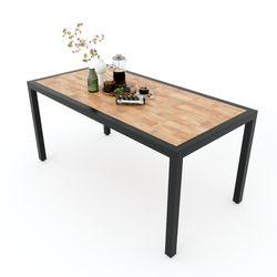 Bàn ăn UNO 02 gỗ cao su chân sắt vuông BA68055Bàn ăn UNO 02 gỗ cao su chân sắt vuông BA68055