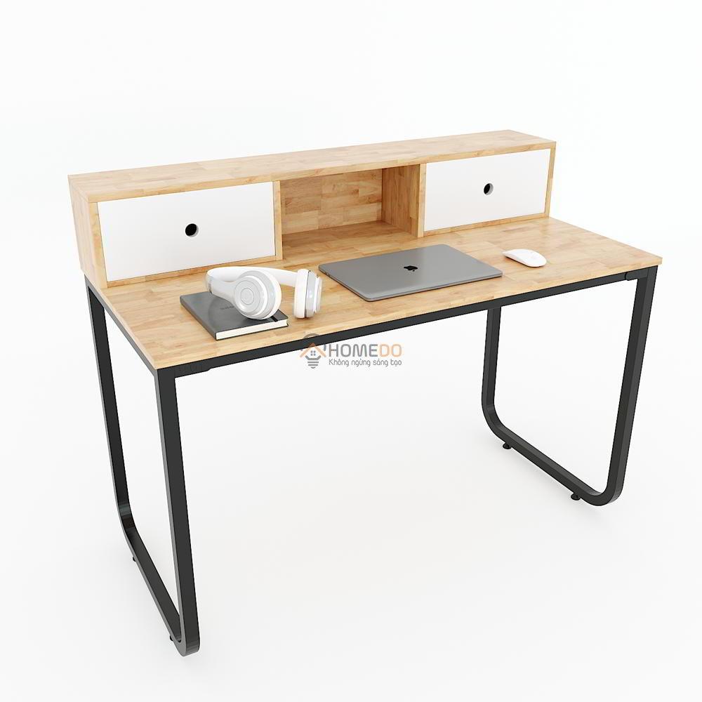 FH009 - Bàn làm việc 2 hộc kéo trên bàn FHome (120x60x90cm)