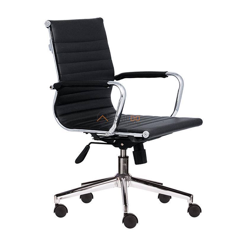 Ghế xoay văn phòng lưng trung gợn sóng M1007-02