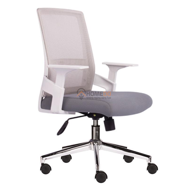 Ghế xoay văn phòng trắng xám M1086-01