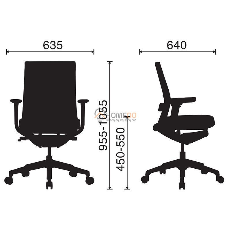 Ghế văn phòng cao cấp Active-T-02