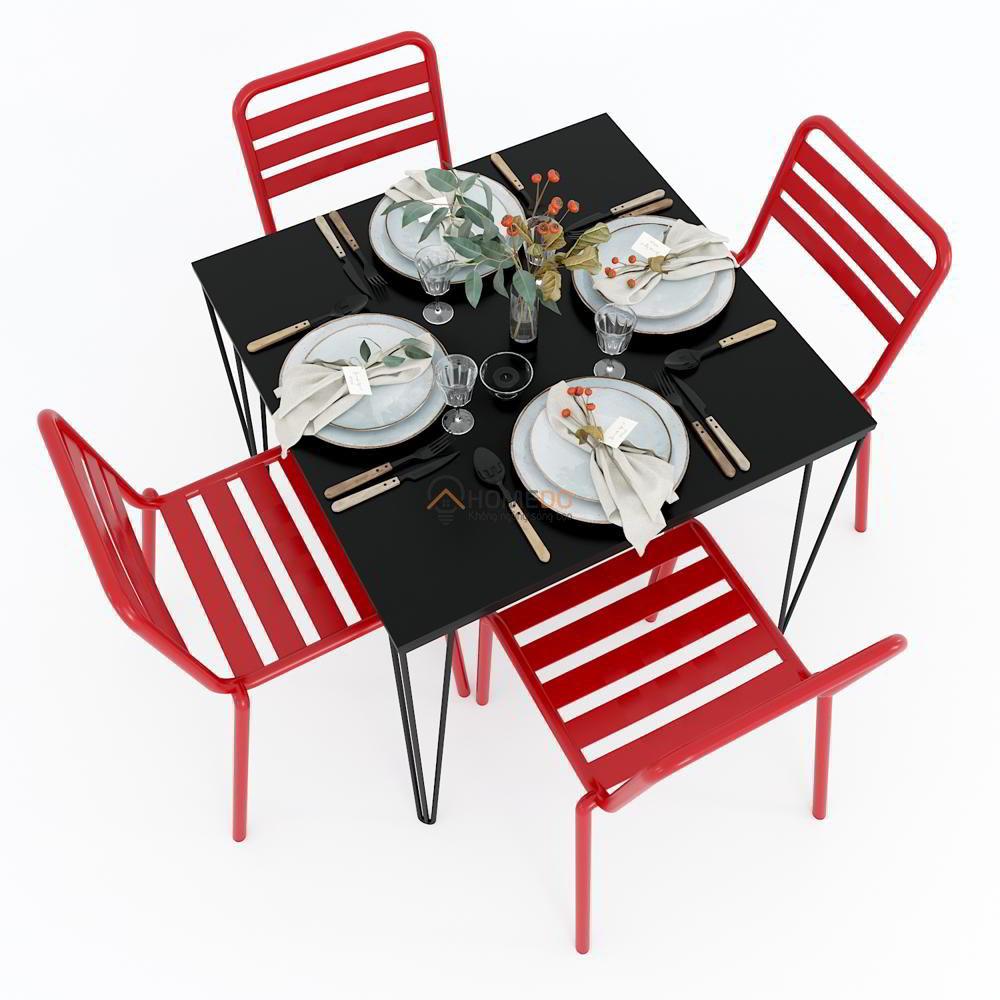 Combo bàn ghế ăn nhà bếp 4 người