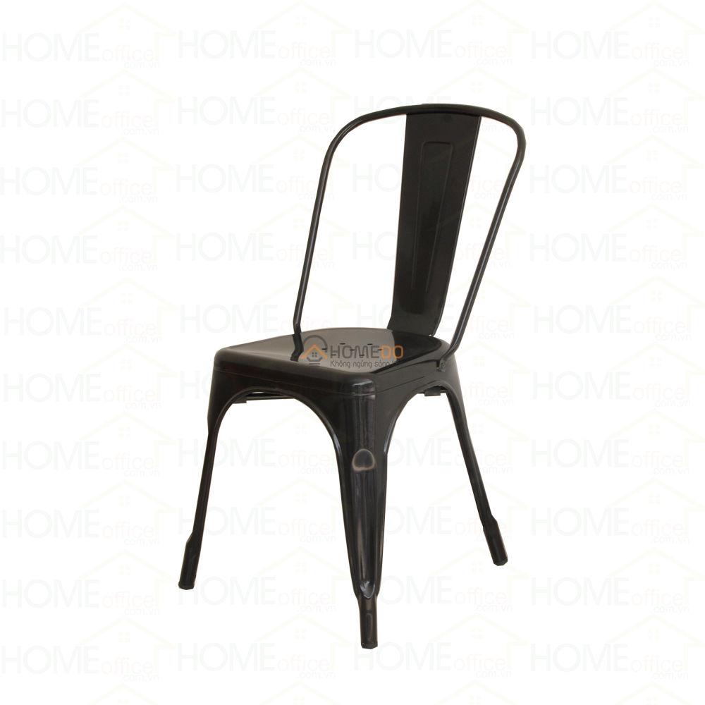 Ghế cafe tolix lưng thấp màu đen