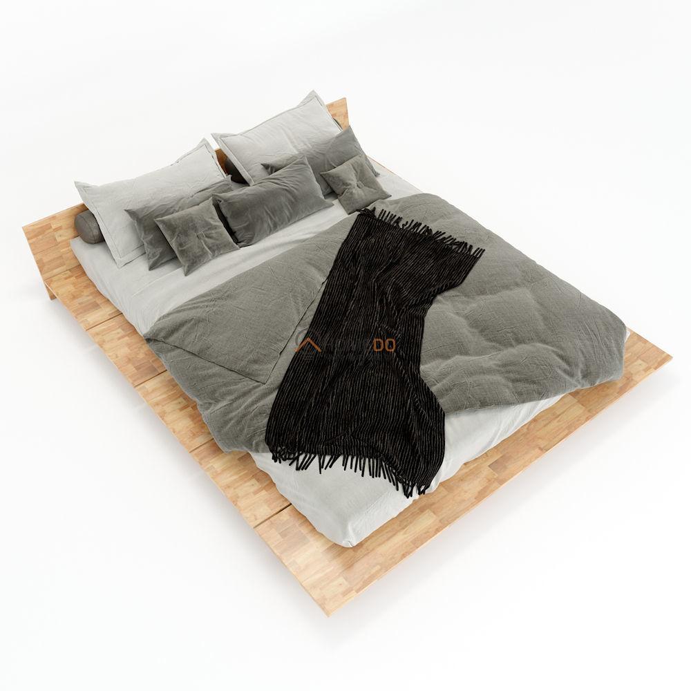 Giường ngủ gỗ cao su