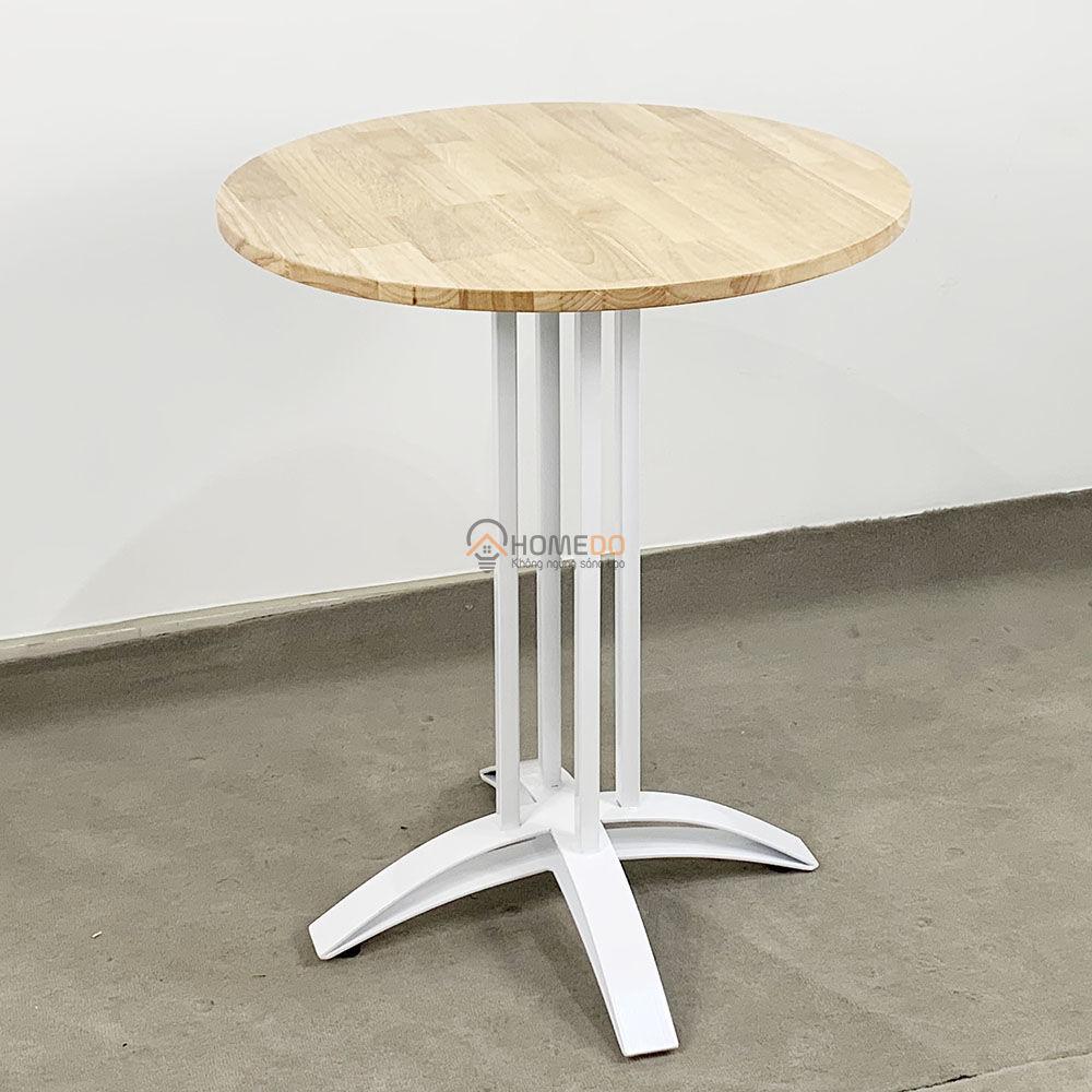 Bàn cafe tròn 60cm gỗ CAO SU chân sắt chữ thập cong Viết nhận xét