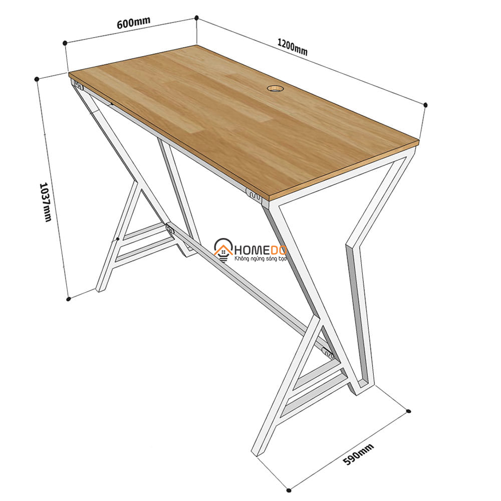 Kích thước chi tiết bàn đứng STD68026