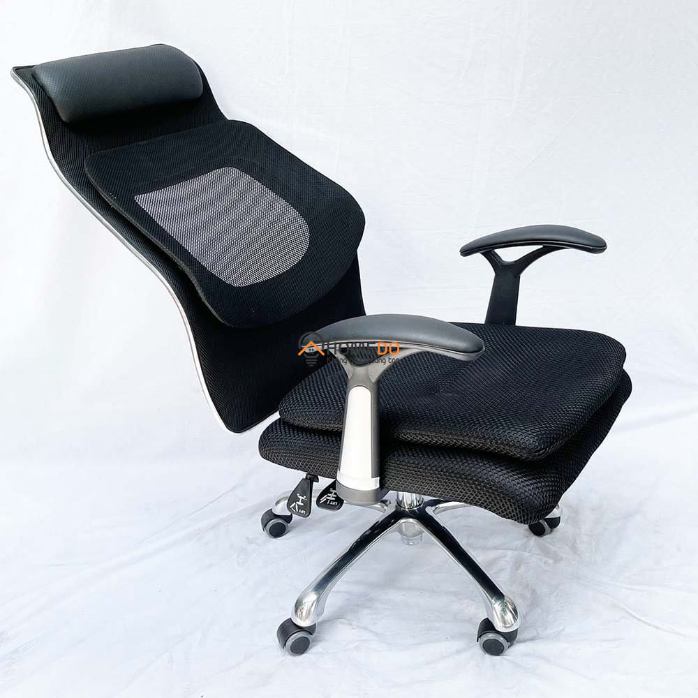 ghế văn phòng ngả nằm có tựa đầu